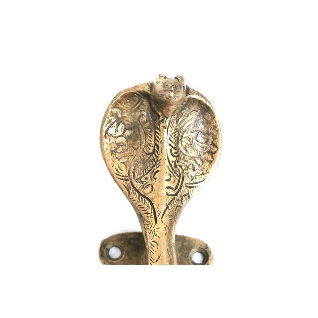 Brass Cobra Door Handles - a Pair For Sale - Image 4 of 5