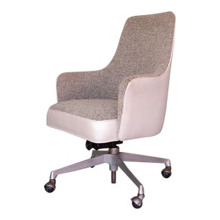 1960s Danish Modern Reupholstered Desk Chair For Sale