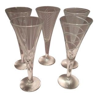 Vintage Mikasa Crystal Aperitif Glasses - Set of 5 For Sale