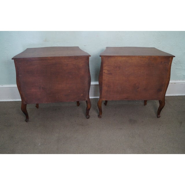 Vintage Carved Italian Bombe Chests - Pair For Sale - Image 7 of 10