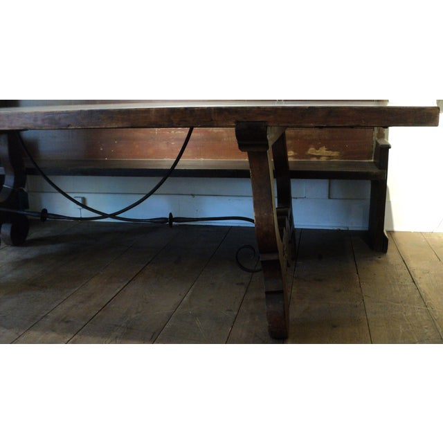 Antique Baroque Large Harvest Table - Image 7 of 11