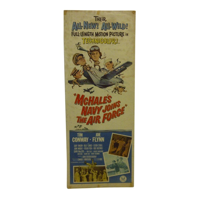 """Vintage """"Mchales Navy Joins the Air Force"""" 1965 Movie Poster For Sale"""