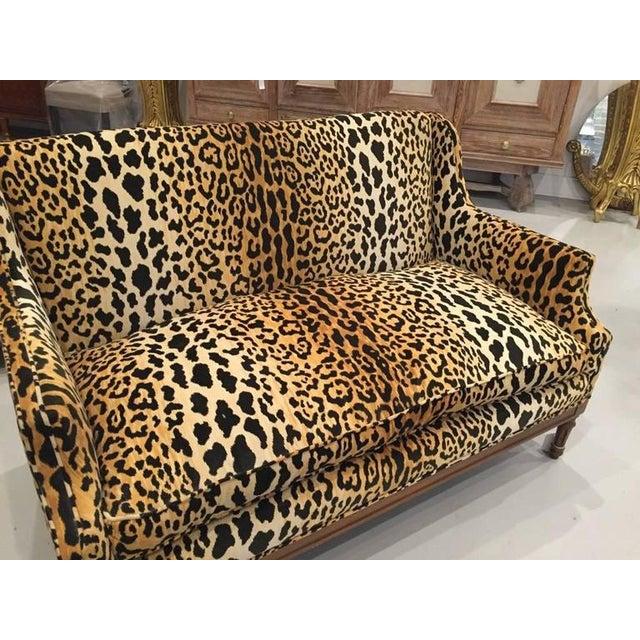 Mid-Century Modern Mid-Century Leopard Print Sofa For Sale - Image 3 of 10