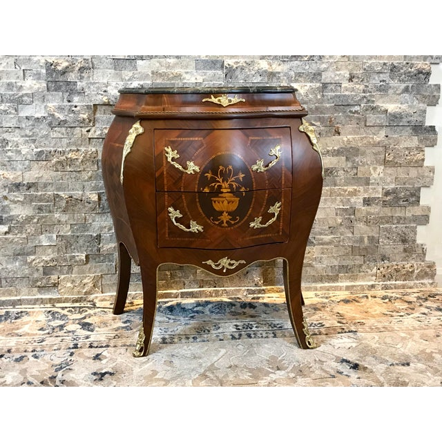 Louis XV Empire Marble Top Side Table For Sale - Image 10 of 10