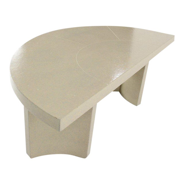 Mid-Century Modern Paul Frankl Demilune Console Table For Sale
