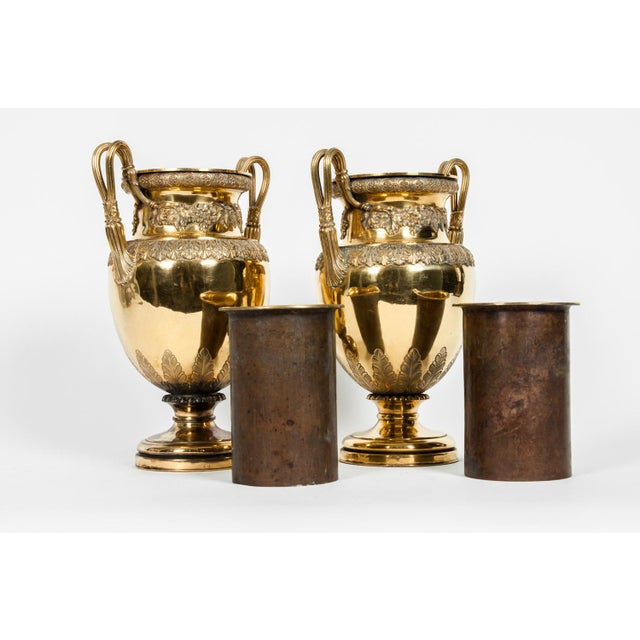 Old English Bronze Decorative Vases For Sale - Image 9 of 13