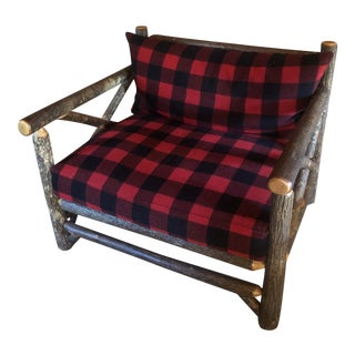 Vintage Old Hickory Big Ranch Chair For Sale