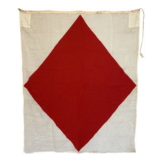"Vintage Nautical Flag Signal ""F"" Foxtrot For Sale"