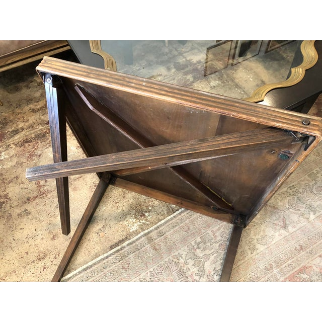 Mid 20th Century Vintage Mid Century Folding Card Table For Sale - Image 5 of 13