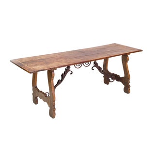 Early 19th Century Spanish Baroque-Style Elm Dining Table For Sale