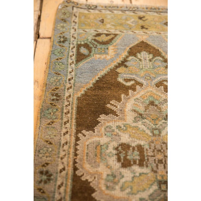 "Old New House Vintage Distressed Oushak Rug Mat Runner - 1'8"" X 3'6"" For Sale - Image 4 of 6"