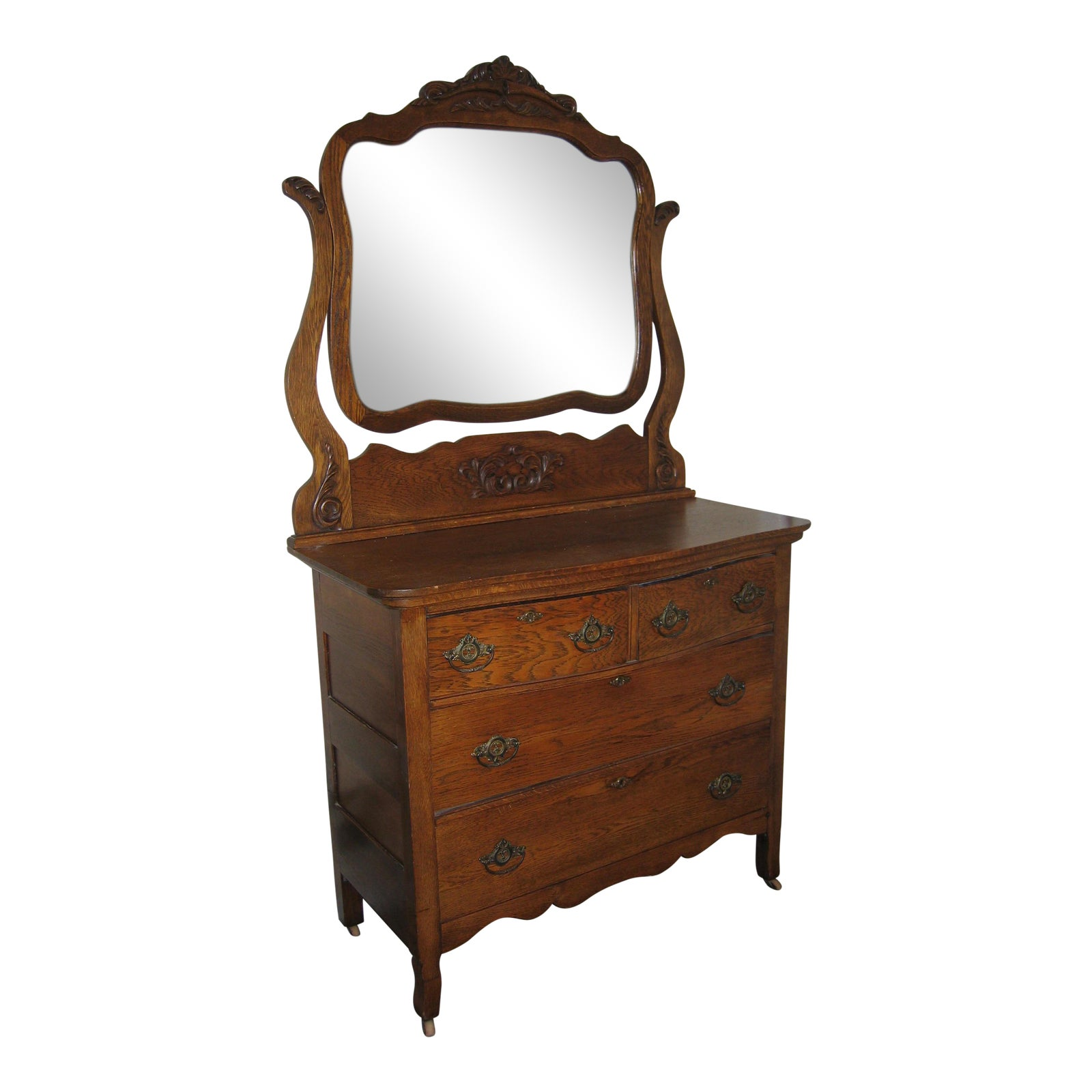dresser tall strathroy board with shop antique mall solid oak mirror side