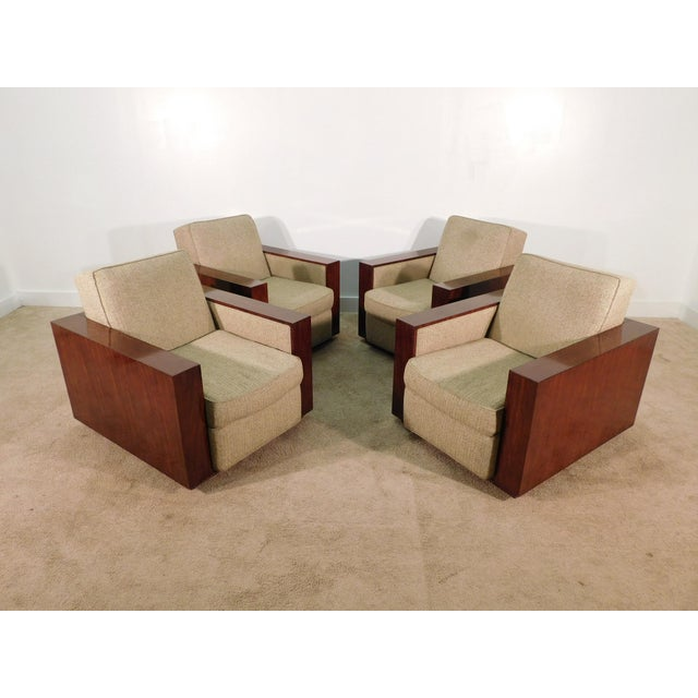 Henredon Ralph Lauren Rosewood Metropolis Collection Club Tub Deck Chairs- A Pair For Sale - Image 9 of 13