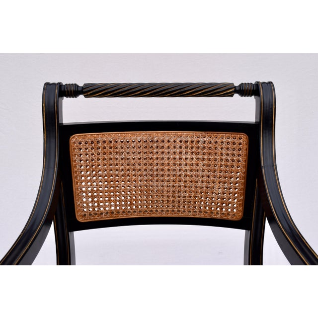Regency Double Caned Dining Chairs Made in Italy, Set of 8 For Sale - Image 10 of 13