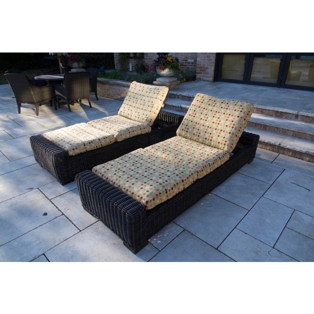 Summer Classics- Rustic Woven Chaise Lounge and Cushion For Sale - Image 13 of 13