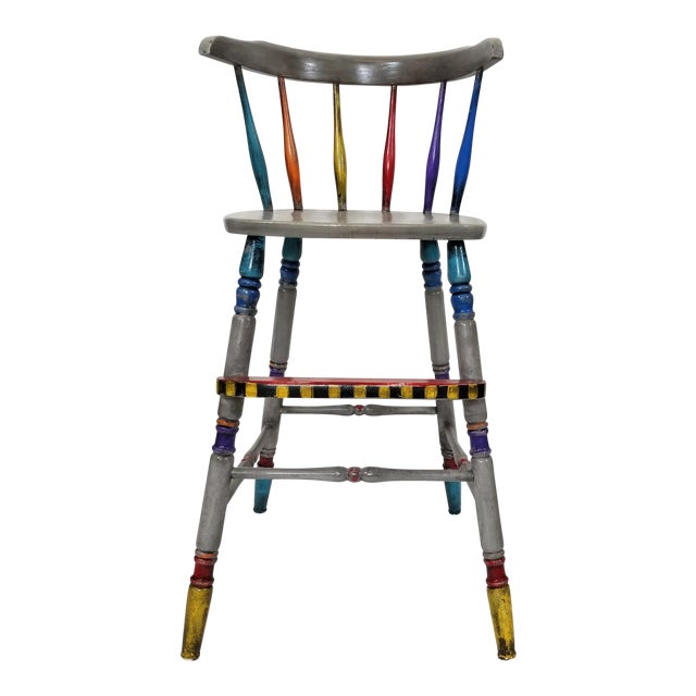 Vintage Hand Painted Highchair - Image 1 of 11