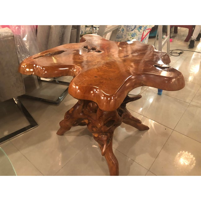 Such an amazing vintage cypress trunk, free-form table base. This can be used as is or can be topped with a piece of...