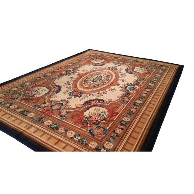 Infuse a touch of beauty to high-traffic areas of your home with this durable French Design rug in colors of beige, brown,...