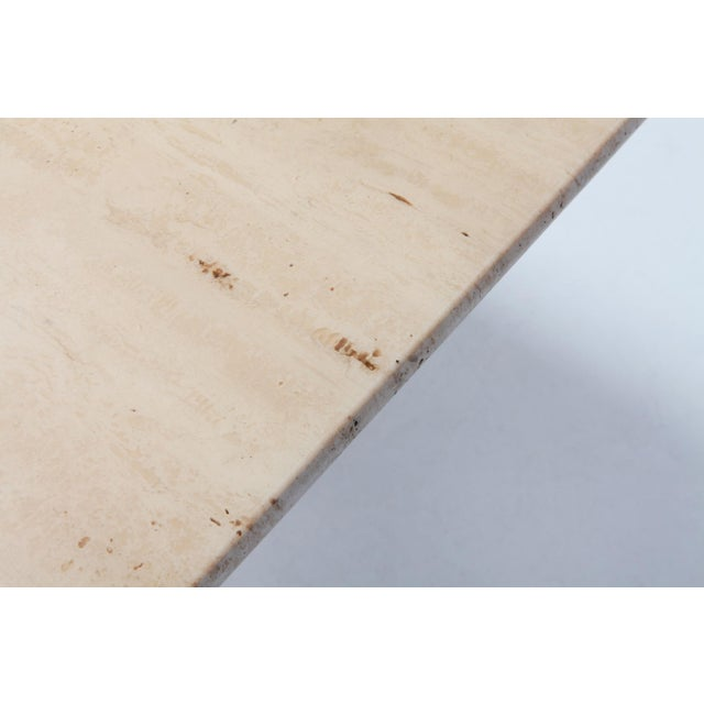 Travertine Dining Table by Mario Bellini 'Il Colonnato' For Sale - Image 10 of 11