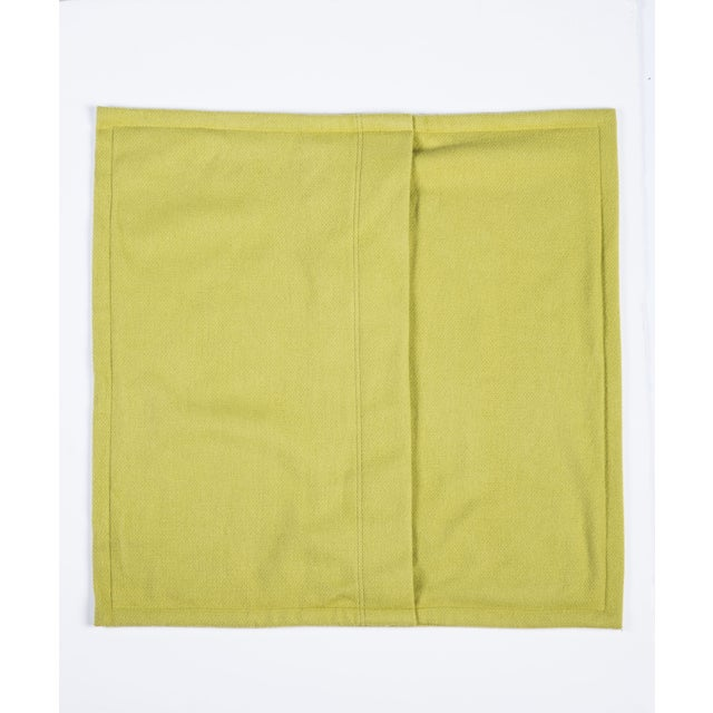 Room & Board Washable Wool Shams in Chartreuse - Image 4 of 6