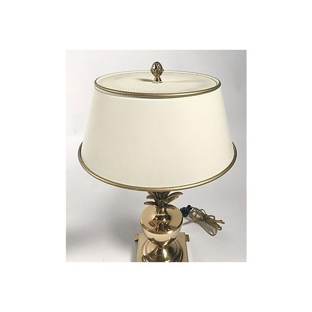 Hollywood Regency Pineapple Lamps - A Pair For Sale - Image 5 of 10