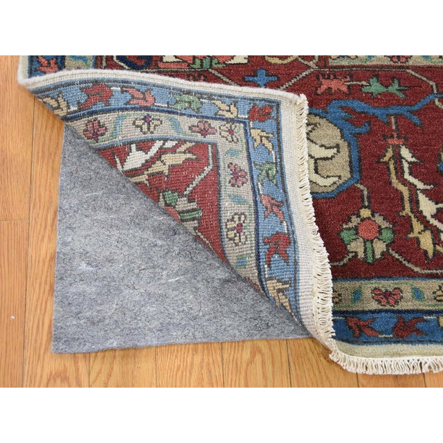 2010s Hand-Knotted Wool Serapi Heriz Tribal Design Rug- 9′ × 11′9″ For Sale - Image 5 of 13