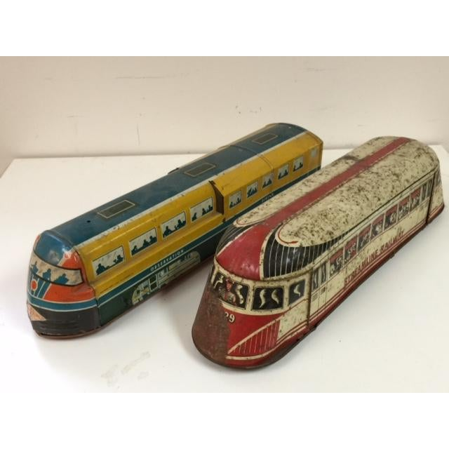 Vintage Tin Wolverine Streamline Pull Toys - Pair - Image 2 of 11