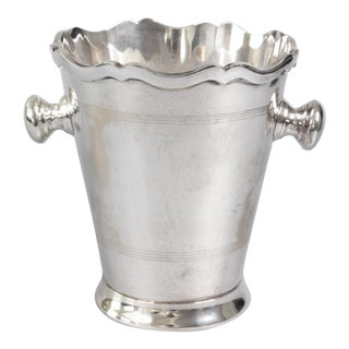 Art Deco Italian Silver Plate Champagne Bucket For Sale