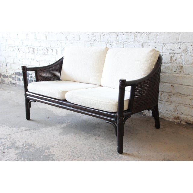 Rattan and Cane Settee or Love Seat by McGuire of San Francisco For Sale - Image 13 of 13