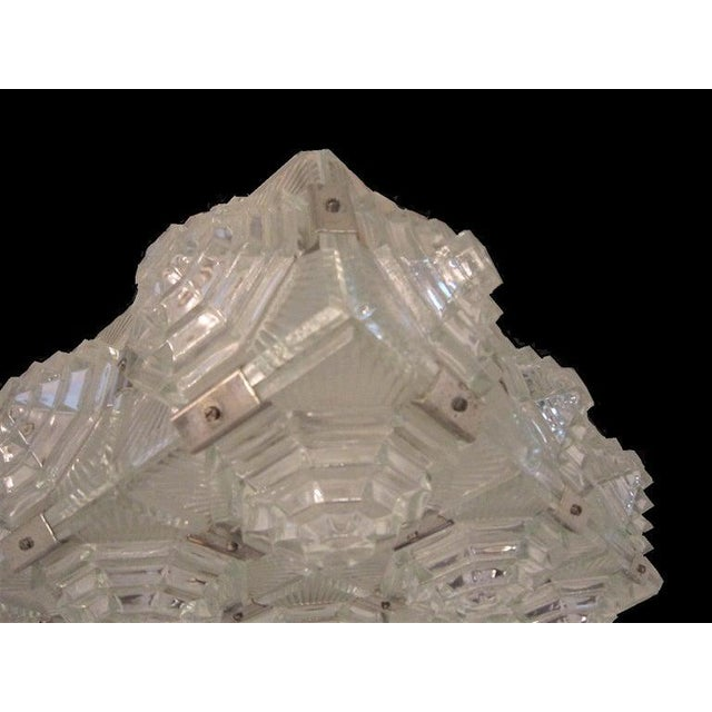 Art Deco Revival Flush Mount Glass Ceiling Squares - 2 Available For Sale - Image 12 of 13