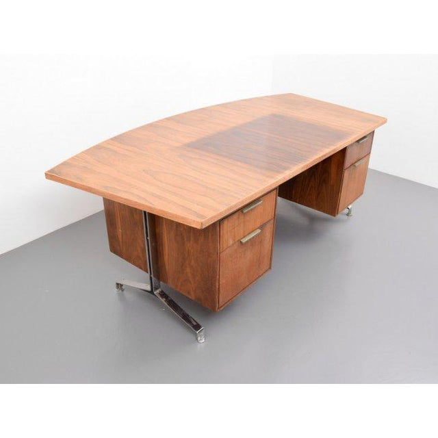 Imperial Desk Co. Rosewood Desk From Imperial Desk Company, 1960s, Usa For Sale - Image 4 of 5