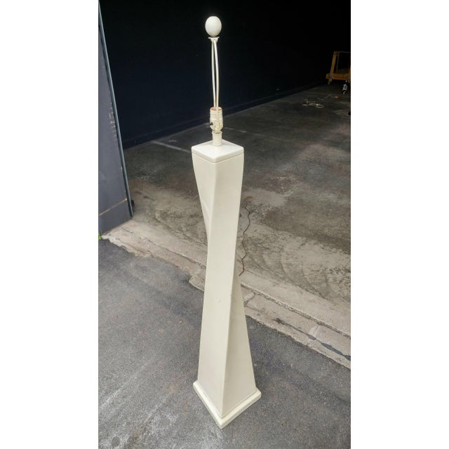 1980's Twisted Modern Floor Lamp For Sale - Image 10 of 11