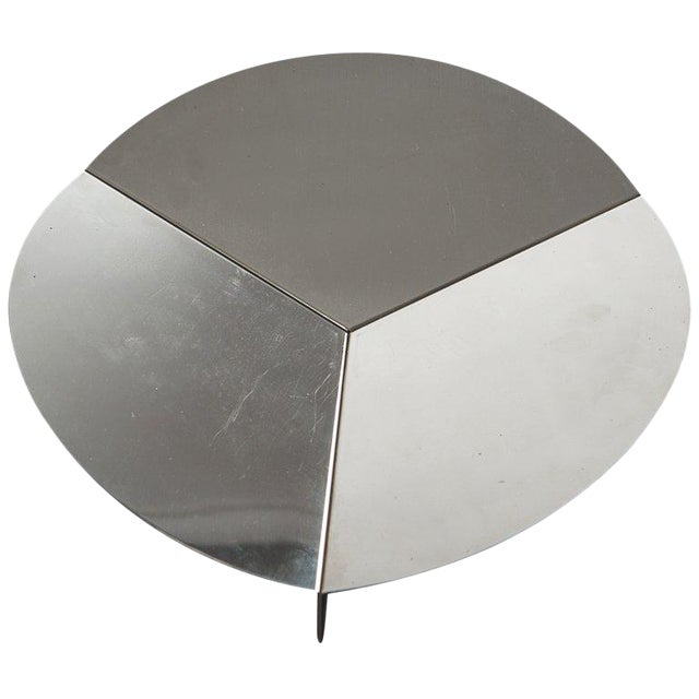 Steel Centerpiece by Grignani for Luci For Sale