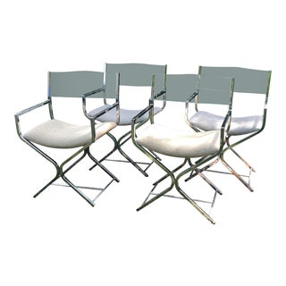 Milo Baughman for Dia Chrome Directors Chairs - Set of 4 For Sale