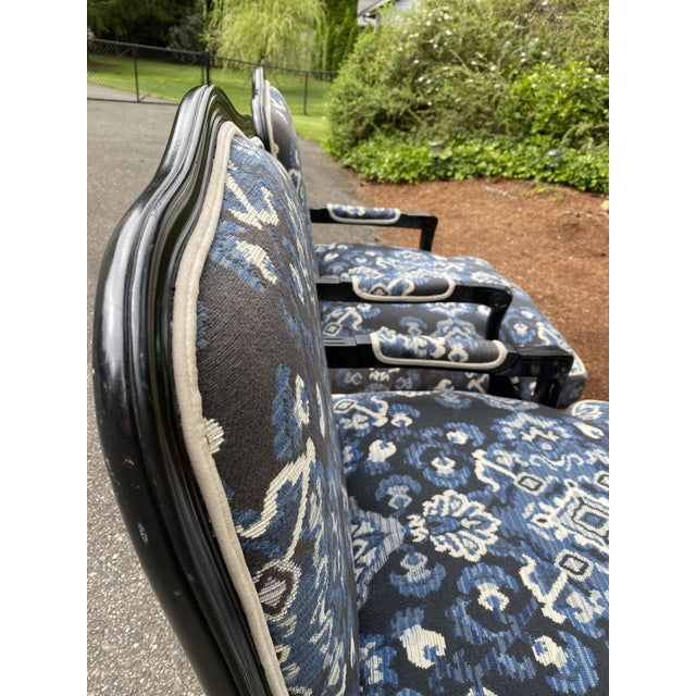 Mid 20th Century Louis XV Custom Upholstered Down Filled Bergere Chairs - a Pair For Sale - Image 5 of 13