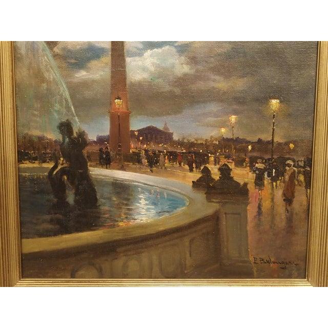 """""""Evening at La Place De La Concorde, Paris"""" Painting by Paul Balmigere (1882-1953) For Sale - Image 9 of 13"""