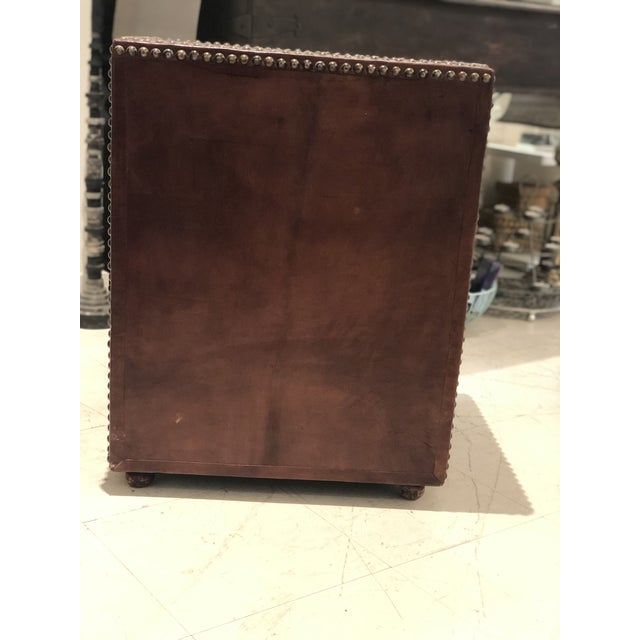 Boho Chic Brown Weaved Leather Chest of Drawers For Sale In Miami - Image 6 of 7