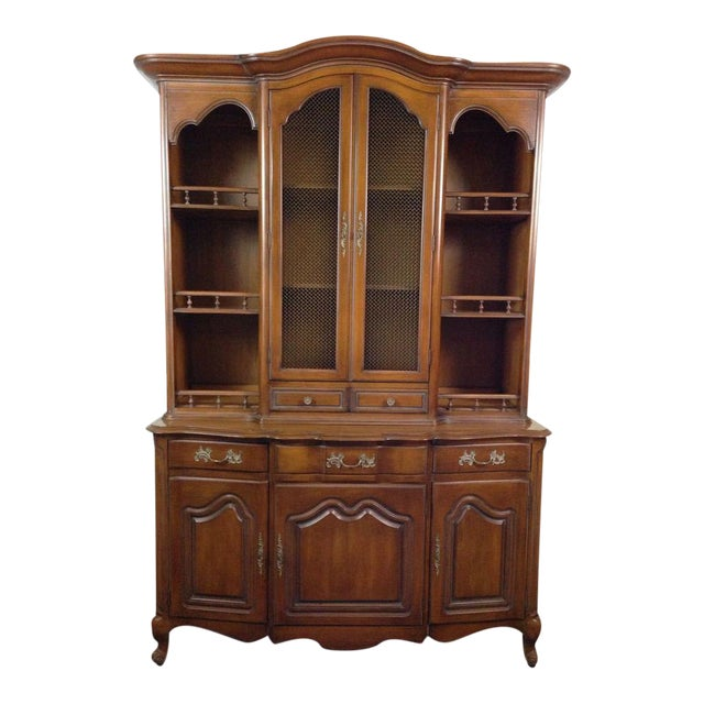 French Provincial-Style Oak Hutch - Image 1 of 4