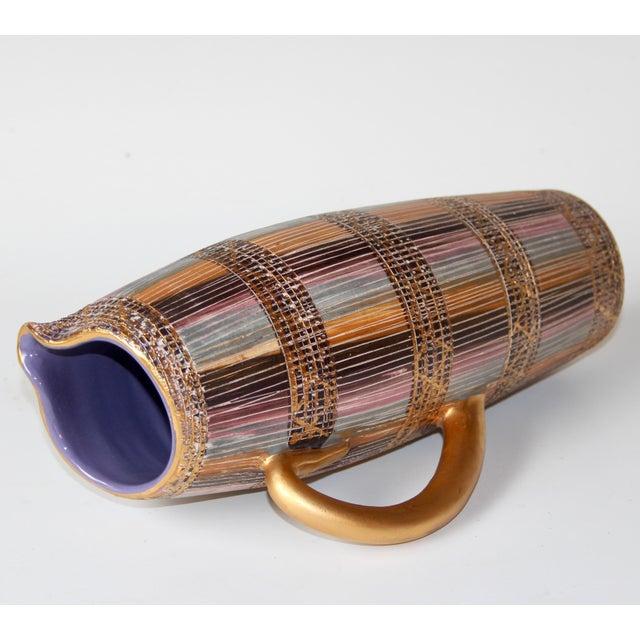 1960s Mid Century Bitossi Raymor Seta Italian Pottery Londi Pitcher For Sale - Image 5 of 13