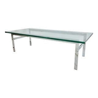 Vintage Mid-Century Modern Chrome Coffee Table For Sale