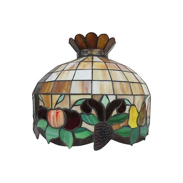 Stained Glass Light Fixture - Image 2 of 6