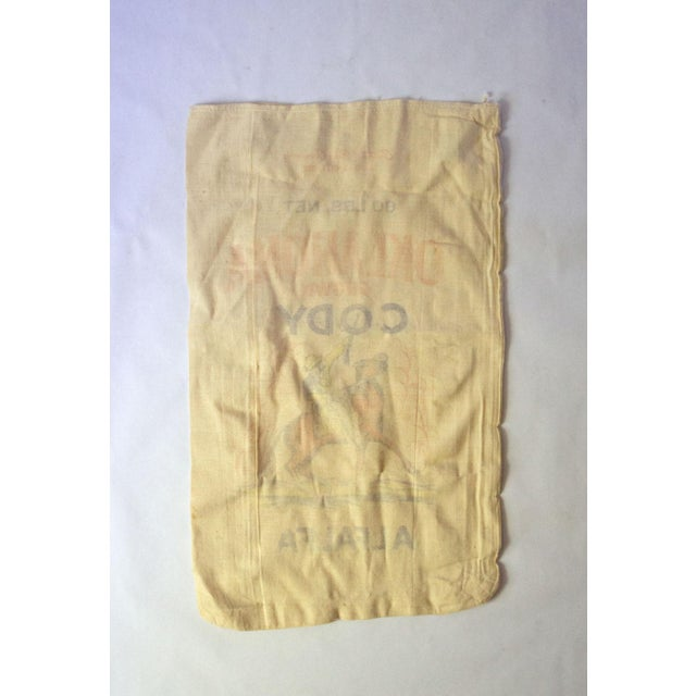 Canvas Vintage Oklahoma Alfalfa Seed Sack For Sale - Image 7 of 8