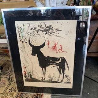 """1968 Salvador Dali """"Anticipation of a Bullfight"""" Pencil Signed Lithograph Print For Sale"""