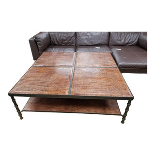 British Colonial Style Alligator Coffee Table For Sale