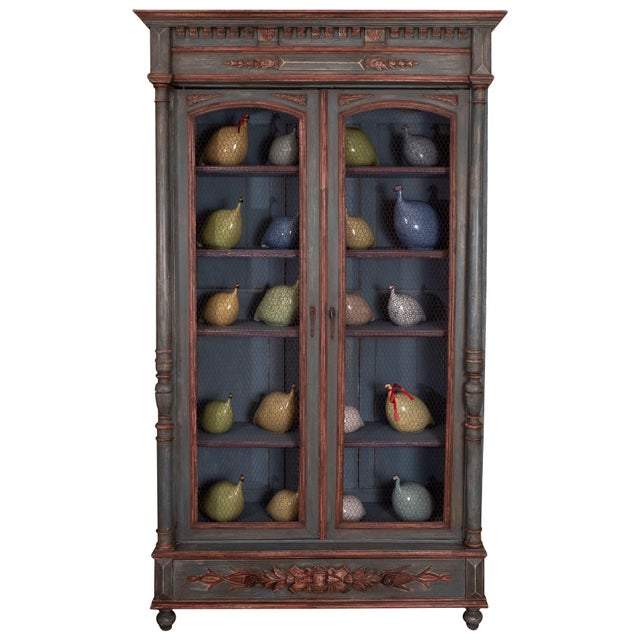 French Painted Bibliotheque For Sale - Image 10 of 10