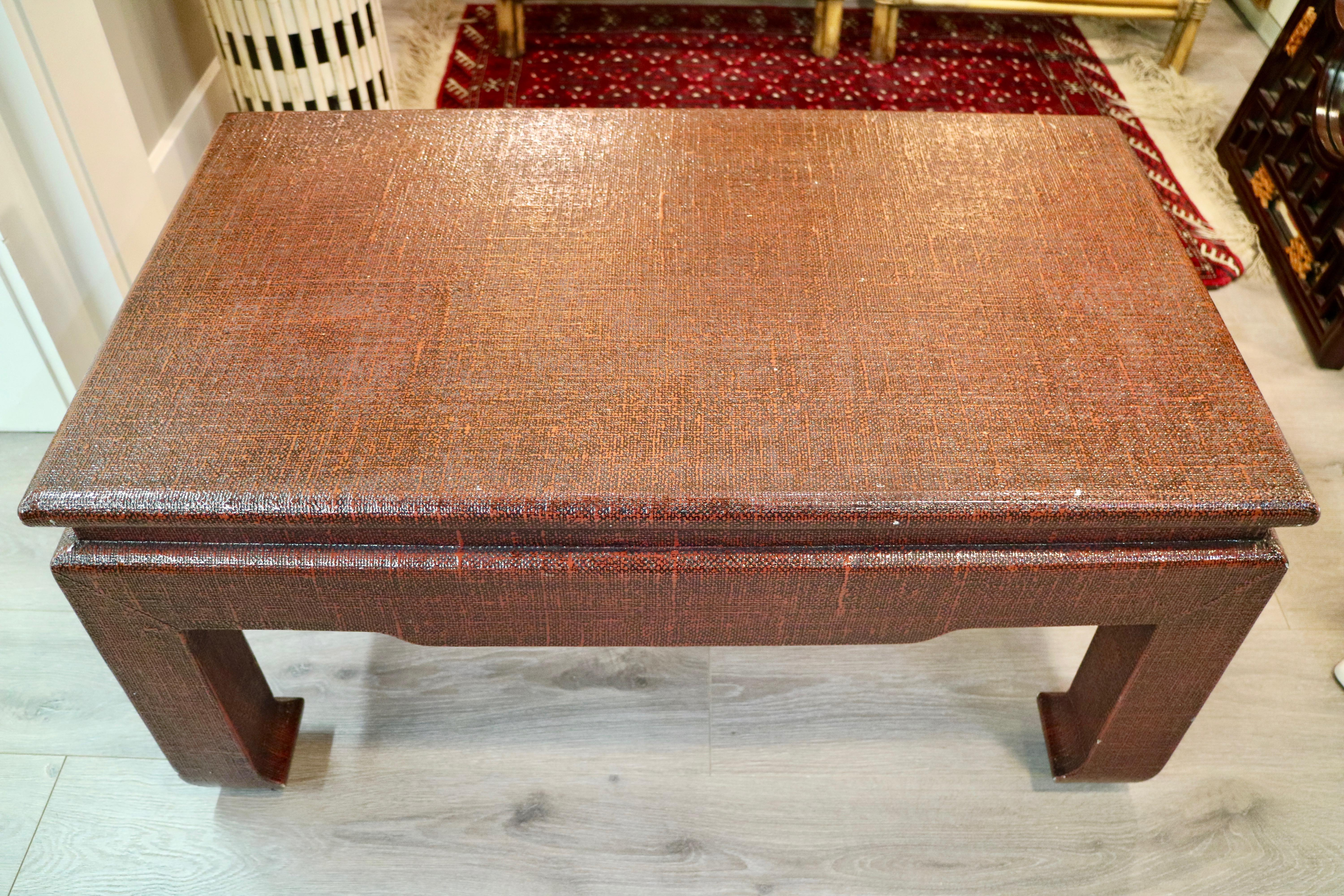 Linen Wrapped Coffee Table   Image 5 Of 7