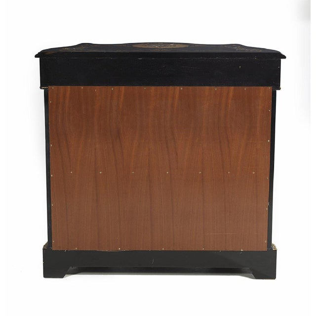 20th Century Italian Ebonized Mother of Pearl Cabinet For Sale - Image 4 of 11