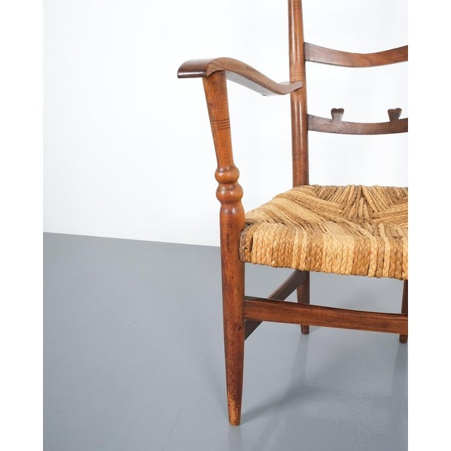 Armchair Attributed to Paolo Buffa, Possible Made by Marelli, Circa 1948 For Sale - Image 11 of 13