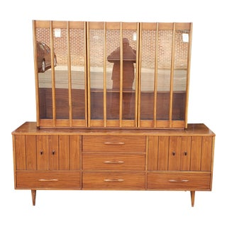 Very Fine Mid-Century Walnut J. Litchenberg & Sons Dining Room Cabinet C1940-1950 For Sale