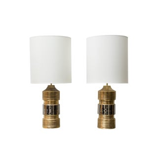 Pair of Ceramic Table Lamps by Bitossi for Bergboms For Sale